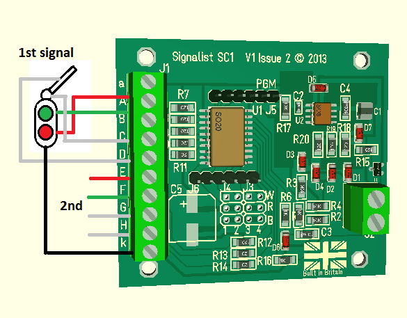 Two aspect signal with feather and optional seperate pivot lamp wiring diagram